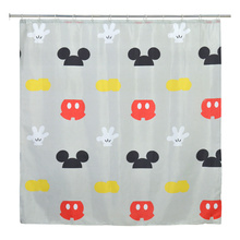 Cortina de Box 100% Poliéster 180x180cm  Mickey Parts Mabruk