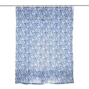 Cortina de Box 1,80x1,98cm PVC Azul Komeco