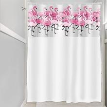 Cortina de Box Polietileno Visor Flamingo 1,35x2,00m Plast-Leo