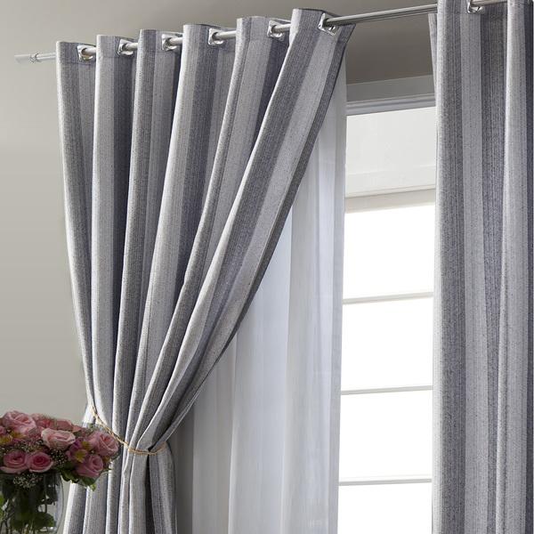 Cortina finestra cinza vem com 2 folhas de 2 70x2 60m - Cortinas para salon leroy merlin ...