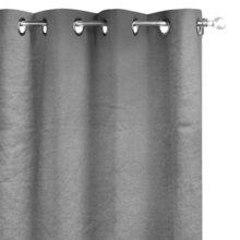 Cortina Linho Liso Granito Ilhos 140x280