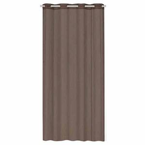 Cortina para Sala e Quarto Gada Chocolate Importada 1,40x2,80m 1 Folha Algodão