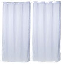 Cortina para Sala/Quarto Blackout Branca Marka Têxtil 2,60x2,80m 2 Folhas