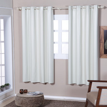 Cortina para Sala/Quarto Blackout Dupla Face Branca Marka Textil 1,80x1,40m 1 Folha