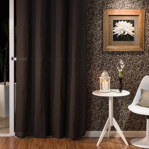 Cortina para Sala/Quarto Canvas Chocolate Importada 2,60x1,40m 1 Folha