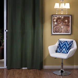 Cortina para Sala/Quarto Canvas Verde Importada 1 Folha 2,60x1,40m