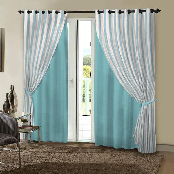 Cortina charmonix azul vem com 2 folhas de 1 50x2 60m for Cortinas azul turquesa