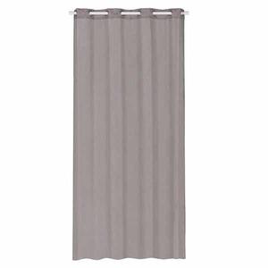 Cortina para Sala/Quarto Gada Cinza Importada 2,80x1,40m 1 Folha Algodão