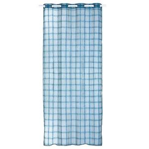 Cortina para Sala/Quarto Grids Azul Importada 2,60x1,35m 1 Folha
