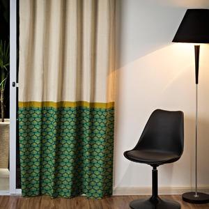 Cortina para Sala/Quarto Hidd Verde Importada 2,60x1,40m 1 Folha