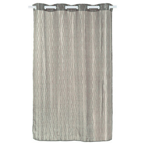 Cortina para Sala/Quarto Neville Jacquard Cinza 2,60x1,35m