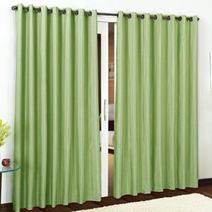 Cortina para Sala/Quarto Pantex Rústica Verde Bella Janela 1,50x2,60m 2 Folhas Algodão