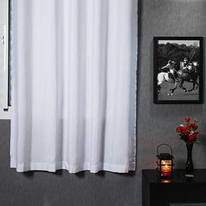 Cortina para Sala/Quarto Rústica Pantex Branca Conthey 1,80x2,80m 2 Folhas