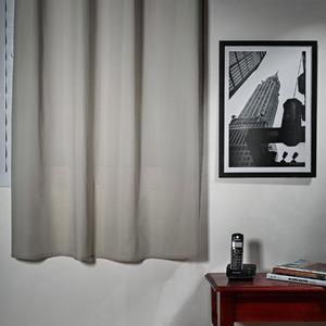 Cortina para Sala/Quarto Stella Cinza Importada 1,80x1,35m 1 Folha