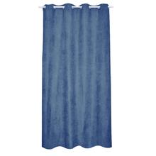 Cortina para Sala/Quarto Suede Azul Escuro 2,60x1,40m