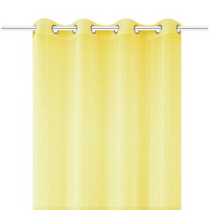 Cortina para Sala/Quarto Voil Liza Amarela 2,60x1,40m