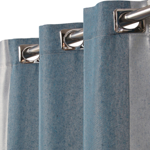 Cortina Saint Tropez Azul Jeans com 2 folhas de 2,70x2,60m