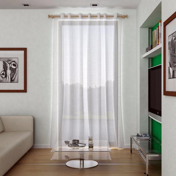 Cortina Tela Repelente Branca Vem Com 1 Folha De 140x180m Leroy - Tela-para-cortina
