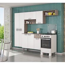 Cozinha L Amora (Paneleiro + Armário de Parede) Branco/Preto Itatiaia