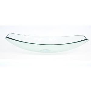 Cuba de Apoio Vidro Oval Incolor 15x39x51cm MM3045 Mimex