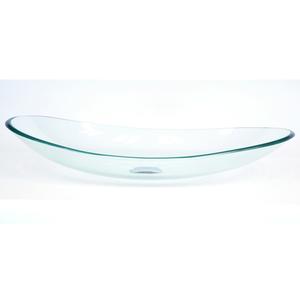 Cuba de Apoio Vidro Oval Incolor 17x37x55cm MM3010 Mimex