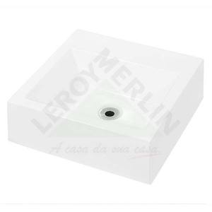 Cuba de Apoio Quadrada D' Cora Cubas Branca 12x41,5x41,5cm Decoralita