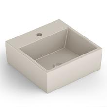 Cuba de Apoio Cerâmica Quadrado Bege Matte 15x41x41 Q1 Celite