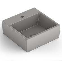 Cuba de Apoio Cerâmica Quadrado Cinza Matte 15x41x41 Q1 Celite