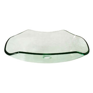 Cuba de Apoio Vidro Oval Transparente Java 15,5x51x37 Importado