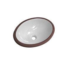 Cuba de Embutir Oval Cerâmica M02 Branca 14x39x36cm Luzarte