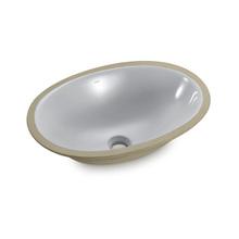 Cuba de Embutir Cerâmica Oval Cinza Claro 16x49x36cm IL6 Icasa