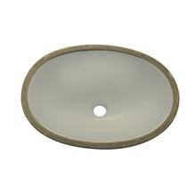 Cuba de Embutir Cerâmica Oval Palha 16x49x36cm IL6 Icasa