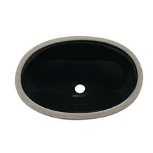 Cuba de Embutir Cerâmica Oval Preta 16x49x36cm IL6 Icasa