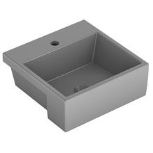 Cuba de Semi Encaixe Cerâmica Quadrado Cinza Matte 15,5x41x41 Q2 Celite