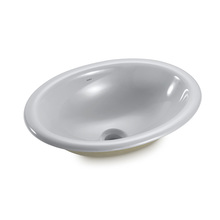 Cuba de Sobrepor Cerâmica Oval Cinza 15x44,5x33cm Icasa
