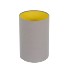 Cúpula Cilíndrica Grande Cinza e Amarela Tecido Espaço Luz