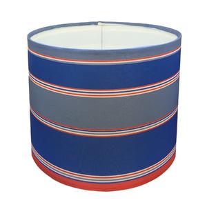 Cúpula Espaço Luz Cilíndrico Tecido Azul, Branco e Vermelho Autitos