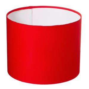 Cúpula de abajur Tecido Vermelha Espaço Luz