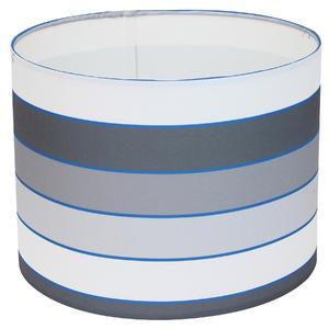 Cúpula Espaço Luz G Cilíndrica Tecido Azul e Cinza Paralelos