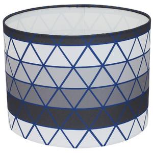 Cúpula Espaço Luz G Cilíndrica Tecido Azul e Cinza Triade