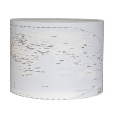 Cúpula para Colorir Cilíndrica Grande Tecido Mapa Mundi Espaço Luz