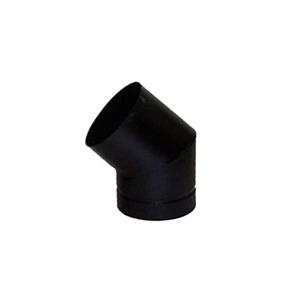 Curva Galvanizada Curta 45° 160mm Preto Metávila