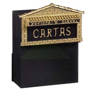 Caixa de correio para muro com cadeado alum nio dourado for Stendibiancheria a muro leroy merlin