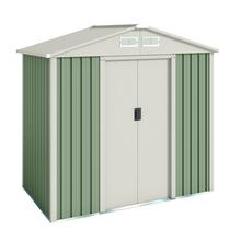 Depósito para Jardim Aço Galvanizado S1001A 121x201x190cm Bege Importado