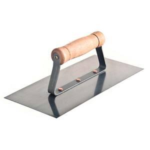 Desempenadeira Aço Lisa Comprimento 25,6 cm Largura 12 cm
