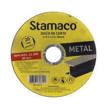Disco Abrasivo Para Metal 115X1.6X20mm Stamaco