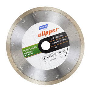 Disco Clipper Diamantado Porcelanato Supreme 230X25,4mm Norton