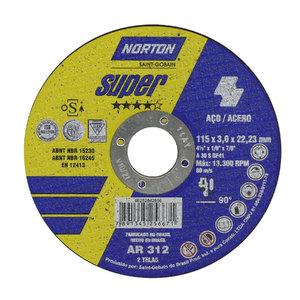 Disco de Corte Ar312 115X3,0X22,22 Super - Norton
