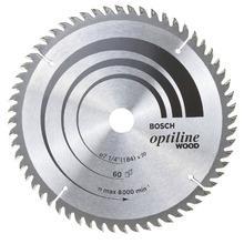"""Disco Para Serra Circular 7.1/4"""" 60 Dentes Bosch"""