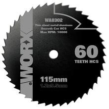 Disco Serra Aço Hss WA8302 115X1,2X9,5 Worx